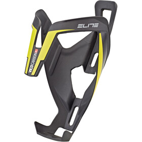 Elite Vico Bottle Holder Carbon matte black/yellow graphic